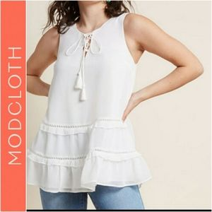 Modcloth Sleeveless Top Size med